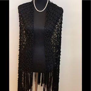 NWOT Black Long Shawl